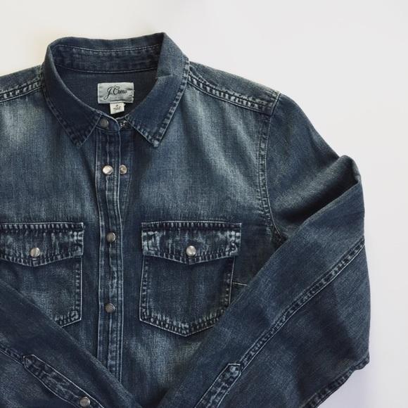 876a839c0a JCREW | NWT Western Chambray Shirt Vintage Indigo NWT